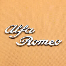 3D Metal For Alfa Romeo Chrome Silver Letter Emblem Badge Tailgate Nameplate