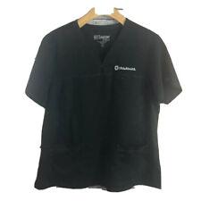 Gray's Anatomy 2Xl Black Ohio Health Nurse Uniform Scrub Top Work Spell