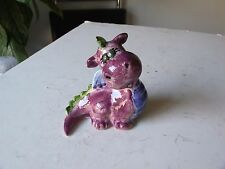 BEAUTIFUL HAND PAINTED CERAMIC DRAGON PUFF OR SPYRO OR ?
