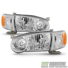 For 2001-2002 Toyota Corolla Headlights w/Corner Signal Headlamps Left+Right Set