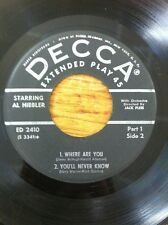 AL HIBLER- AFTER THE LIGHT GO DOWN/SEPT IN THE RAIN/WHERE ARE YOU RARE EP 2410