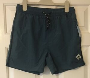 Mens Teal Swimming Shorts Size XS Extra Small From Primark