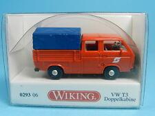 WIKING 029306 VW T3 DOPPELKABINE PRITSCHE PLANE ÖBB 1:87