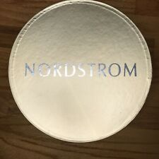 Nordstrom Hat Box Silver And Gold 14� x 7� Great Condition