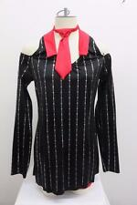 Dance Costume XL Adult Black Red Gangster Suit Tap Jazz Solo Competition