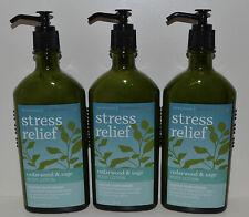 3 BATH & BODY WORKS AROMATHERAPY STRESS RELIEF CEDARWOOD SAGE CREAM LOTION LOT
