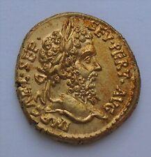 Septimius Severus AV aureus, ROME, gold ancient roman coin, 6,9g