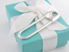 Tiffany & Co Silver Safety Pin Key Ring Chain Keyring Box Pouch LN