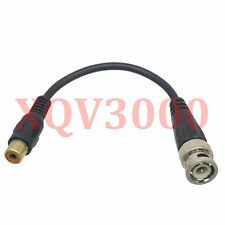 "2x Adapter pigtail 6"" cable BNC male to RCA TV female AV Camera CCTV Video balum"