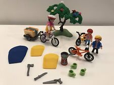 Playmobil Cyclistes avec Vélos et Remorque ref. 6890