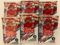 2021 Topps Baseball Series 1 - LOT OF 2 - Factory Sealed Cello 16 Card Fat Packs