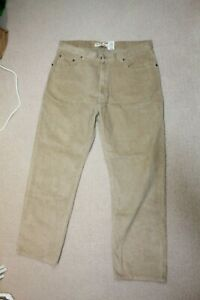 Vintage LEVIS 559 Relaxed Straight Beige Corduroy Jeans Trousers Size W40 L32