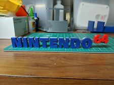Nintendo 64 N64 video game logo sign fan art shelf 3D print USA