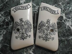 Walther PPK-S Standard Scrimshawed Walther Eagle Logo Grips. Very Nice!