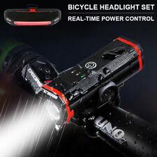 LED Fahrradlicht USB Fahrradbeleuchtung Set Fahrradlampe Scheinwerfer Rücklicht