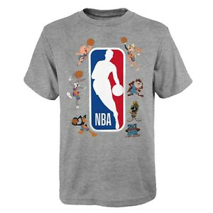 Space Jam Kinder T-Shirt Squad Up Looney 31st Team New Legacy Youth NBA grau