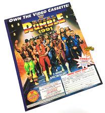 "WWF Royal Rumble 1991 VHS Magazine Print Ad 8"" x 11"" Poster Coliseum Video WWE"