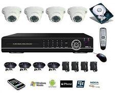 Kit video surveillance 960H, 4 caméras dome anti vandale + DVR IP 4voies 500Go
