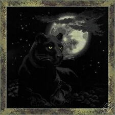 Full Moon Black Panther Premium Cross Stitch Kit Riolis