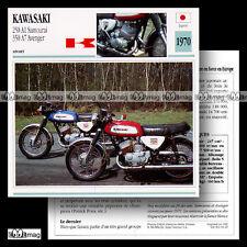 #064.09 KAWASAKI 250 A1 SAMOURAI & 350 A7 AVENGER 1970 Fiche Moto Motorcycle