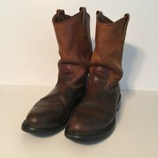RED WING Mens Pecos SuperSole 1105 Brown Leather Western Roper Work Boots 11 A