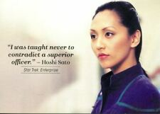 Star Trek Women Of 50th Anniversary Quotable Chase Card Q18 Hoshi Sato