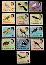 """Gambia QEII """"Birds"""" 1963 FULL MINT SET x13 STAMPS MLH"""