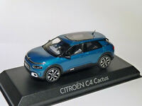 RARE : Citroën C4 CACTUS de 2017 Bleu Emeraude   au 1/43 de NOREV