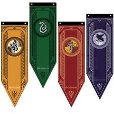 Harry Potter Gryffindor Slytherin Ravenclaw Hogwarts House Flag Banner Drape
