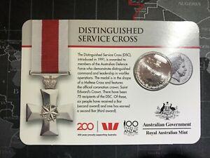 2017 Australian Distinguished Service Cross 20c - Legends of the Anzacs