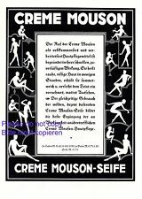Parfüm Creme Mouson XL Reklame 1925 Silhouette Tanz Musik Werbung Akt Parfum +