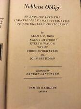 Noblesse Oblige, 1st Ed. 5th Printing Hardcover 1956, Mitford, Stix, Betjeman