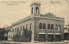 1907 Lithograph Postcard; Fire Dept. Building, Torrington CT Litchfield County