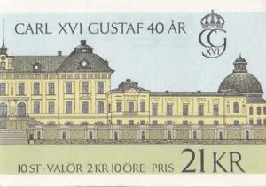 Sweden 1986 King Carl XVI Gustaf 40 years old Royalty booklet