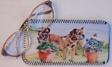 BORDER TERRIER DOG DESIGN NEOPRENE GLASS CASE POUCH SANDRA COEN ARTIST PRINT