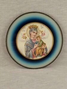 """Antique Vintage Chimney Flue Cover Art Deco Glass Royalty Saint 5"""""""