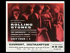 "Rolling Stones Southampton 16"" x 12"" Photo Repro Concert Poster"