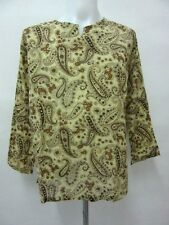 L342 NEW PAISLEY CLASSIC DESIGN THIN BOHEMIAN GYPSY LONG SLEEVE SHIRT CLOTHING
