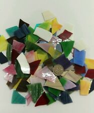 Leadlight glass offcuts for mosaic or glass crafts-Assorted opal mix 400g