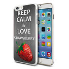 For Various Phones Design Hard Back Case Cover Skin - Love Strawberry