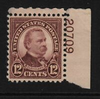 1931 Sc 693 MLH 12c Cleveland plate number single Hebert CV $8
