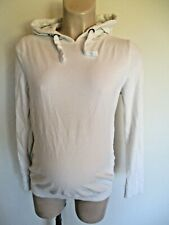 NEW LOOK MATERNITY CREAM HOODED JUMPER HOODIE TOP SIZE 12