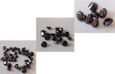 CUBIC ZIRCONIA Loose AAA Black CZ Lots 1- 20 mm Round CZ Stones *Wholesale*  USA