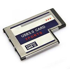 3 porte USB 3.0 ExpressCard Karte 54mm PCMCIA Express Card fuer Notebook Q1I4