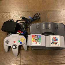 NINTENDO 64 Black Console Bundle Controller Super Mario Pokémon Stadium2 N64