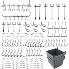 Pegboard Hooks Assortment With Bins Locks For Organizing Tools 80 Piece Ampamp