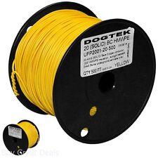 Boundary Wire 500ft Electronic Dog Fence System Yellow Polyethylene Jacket Pet