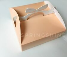 Cute Orange Bow Bakery Boxes | for Cookie/Cupcake/Candy Party Gift | 6 cts