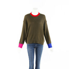Marni Sweater Green Color Block Cashmere Knit Crew Neck SZ 42