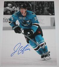Logan Couture signed 11x14 spotlight photo San Jose Sharks COA